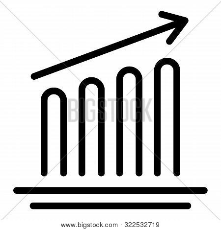 Impression Increase Icon. Outline Impression Increase Vector Icon For Web Design Isolated On White B