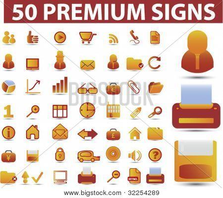 50 premium signs. vector
