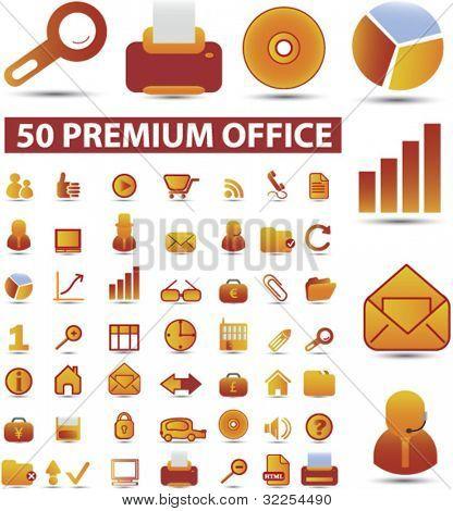 50 premium office signs. vector