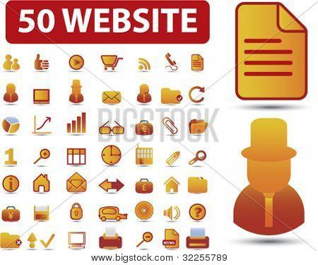 50 website premium signs. vector