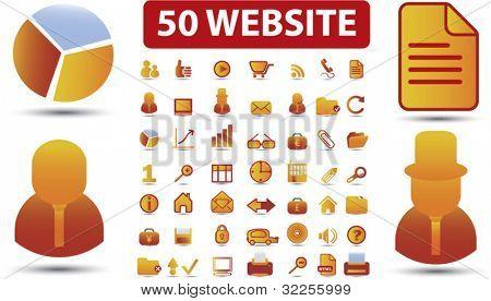 50 cute website signs. vector