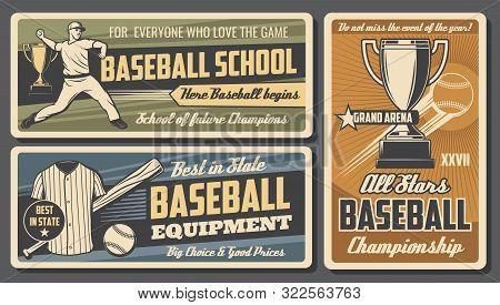 Baseball Sport Championship And Softball Professional School Or College Team Club. Vector Baseball P