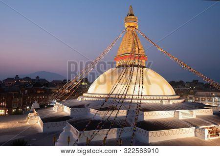 Boudhanath Stupa Center Of Tibetan Culture In Kathmandu.nepal