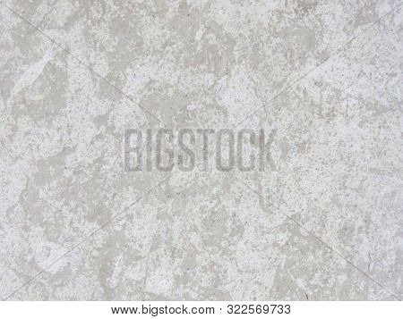 Grey Brown Stone Gorizontal Background. Grunge Wall Background Or Web Banner. Distressed Old Wall Vi