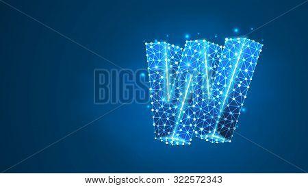 Letter W. World Wide Web, Domain, Www, Internet, Web Address, Online, Website, Profile, Technology C