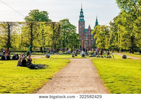 People Relaxing At The King's Garden Next To Rosenborg Castle