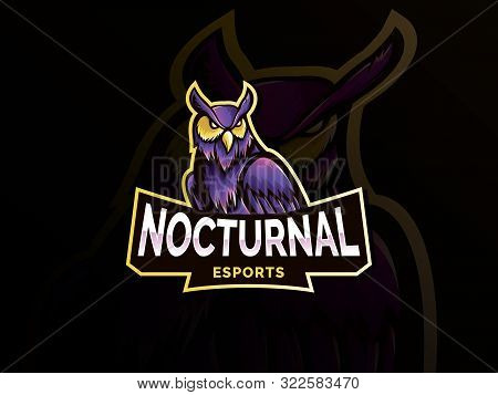 Owl Mascot Design Vector With Modern Illustration Concept. Angry Owl Illustration For Sport Team. Ow