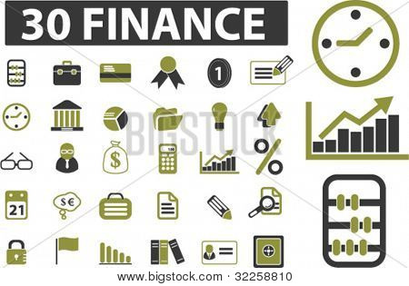 30 finance signs. vector