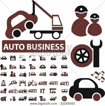 auto sinais do negócio. vector