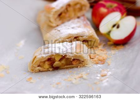 Delicious Apple Cake And Apple, Delicious Fruitcake