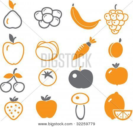 vector - fruits & vegetables