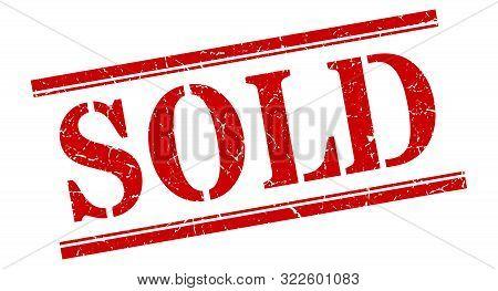 Sold Stamp. Sold Square Grunge Sign. Sold