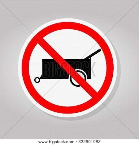 Prohibit Forbid Wheel Traffic Road Sign Isolate On White Background,vector Illustration