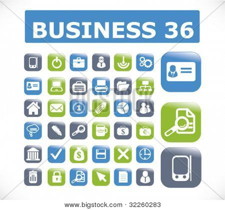 36 professional business buttons. vector