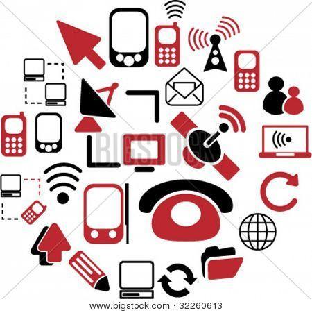 communication signs - mega vector set