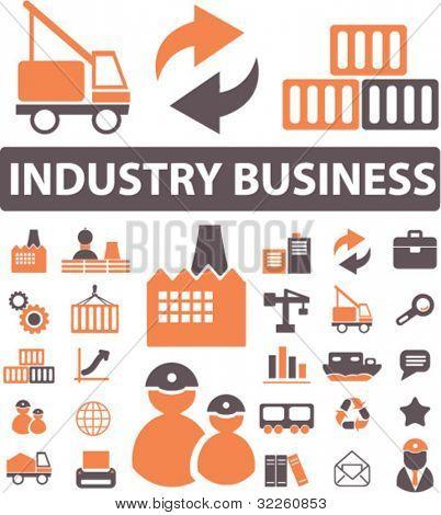 industry signs. vector
