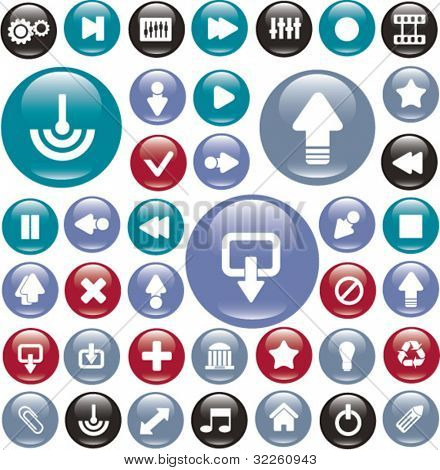 colorful glossy buttons. vector