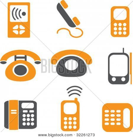 phones signs. vector