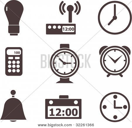 time signs. vector