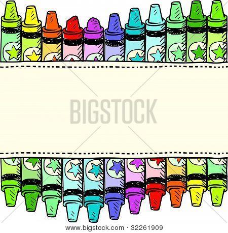 Crayon border or label