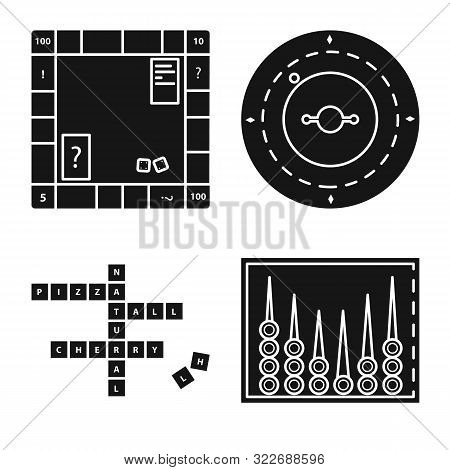 Vector Illustration Of Leisure And Rivalry Icon. Set Of Leisure And Concept Stock Vector Illustratio