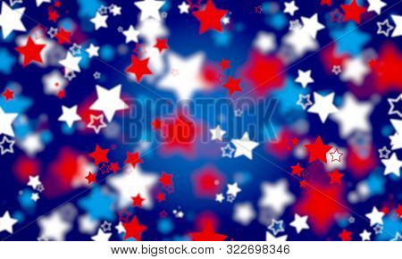 Abstract, American Flag Colors, Background, Blue, Spot, Blurred, Bright, Bokeh Background, Celebrati