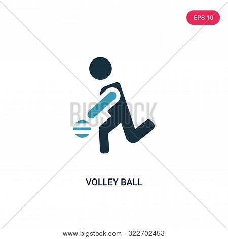 volley ball icon in two color design style.