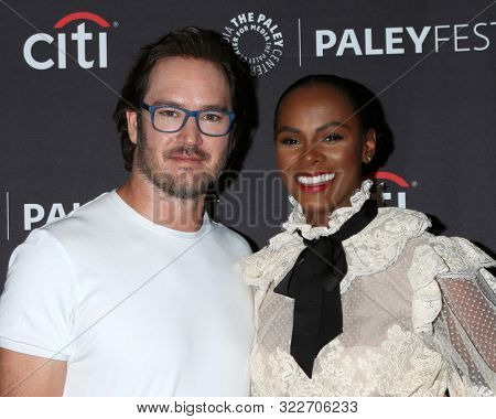 LOS ANGELES - SEP 14:  Mark-Paul Gosselaar, Tika Sumpter at the PaleyFest Fall TV Previews - ABC at the Paley Center for Media on September 14, 2019 in Beverly Hills, CA