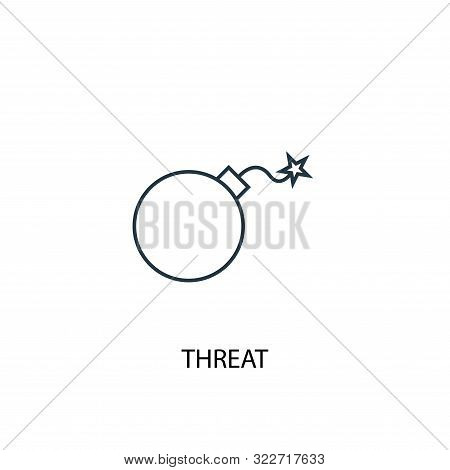 Threat Concept Line Icon. Simple Element Illustration. Threat Concept Outline Symbol Design. Can Be