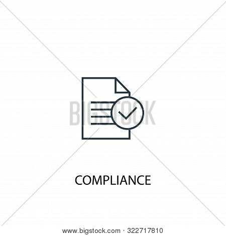 Compliance Concept Line Icon. Simple Element Illustration. Compliance Concept Outline Symbol Design.