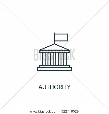 Authority Concept Line Icon. Simple Element Illustration. Authority Concept Outline Symbol Design. C