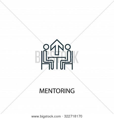 Mentoring Concept Line Icon. Simple Element Illustration. Mentoring Concept Outline Symbol Design. C