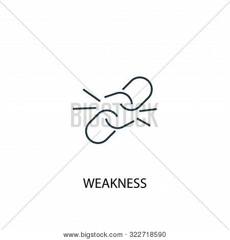 Weakness Concept Line Icon. Simple Element Illustration. Weakness Concept Outline Symbol Design. Can