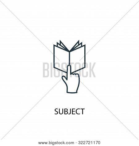 Subject Concept Line Icon. Simple Element Illustration. Subject Concept Outline Symbol Design. Can B