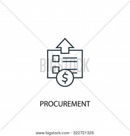 Procurement Concept Line Icon. Simple Element Illustration. Procurement Concept Outline Symbol Desig