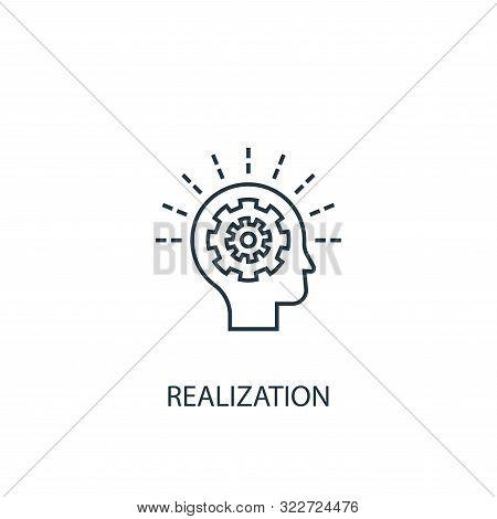 Realization Concept Line Icon. Simple Element Illustration. Realization Concept Outline Symbol Desig