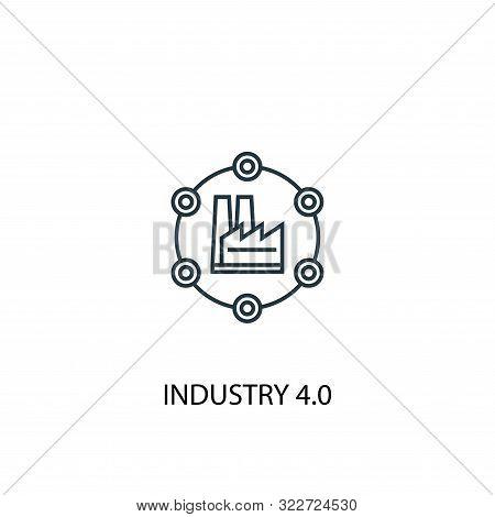 Industry 4.0 Concept Line Icon. Simple Element Illustration. Industry 4.0 Concept Outline Symbol Des