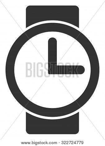 Vector Watches Flat Icon. Vector Pictograph Style Is A Flat Symbol Watches Icon On A White Backgroun