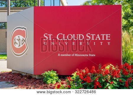 Entrance Sign And Logo At St. Cloud State University