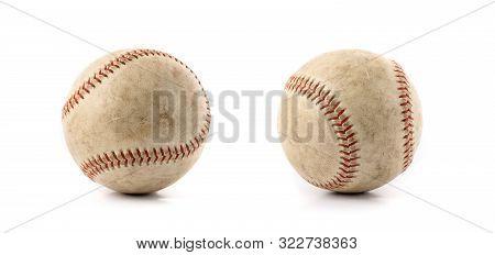 Baseball Over White