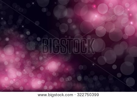 Abstract Universe. Abstract Black And Gradient Dark Purple To Light Pink Space Cosmos Universe Backg
