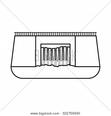 Isolated Object Of Hydro And Station Logo. Set Of Hydro And Dam Vector Icon For Stock.