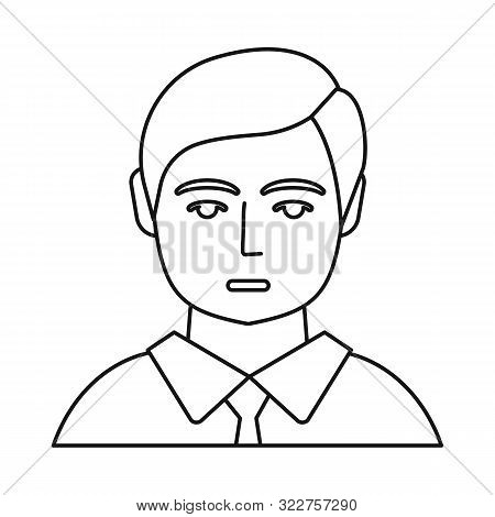 Isolated Object Of Boy And Hairdo Logo. Set Of Boy And Young Stock Vector Illustration.