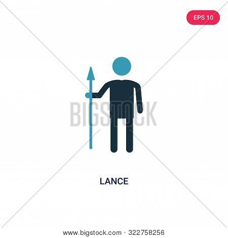 lance icon in two color design style.