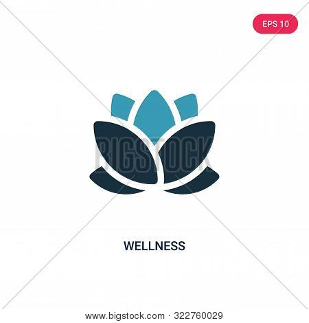 wellness icon in two color design style.
