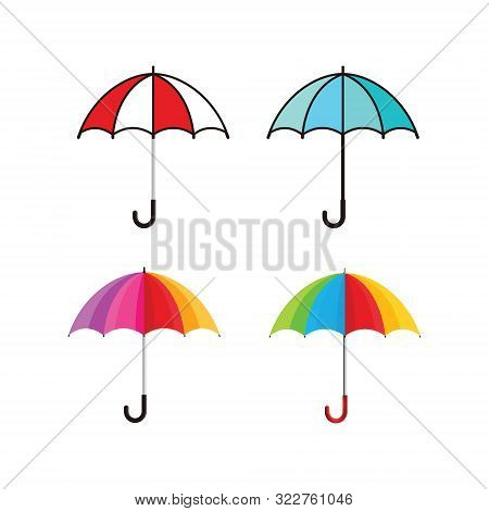 Umbrella Icon Isolated On White Background From Weather Collection. Set Of Umbrella Icon Trendy And