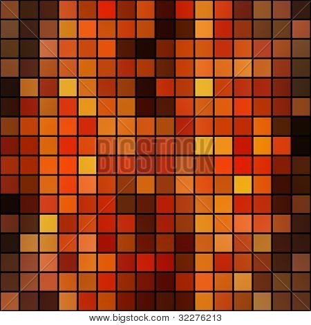Mosaic background in warm colors