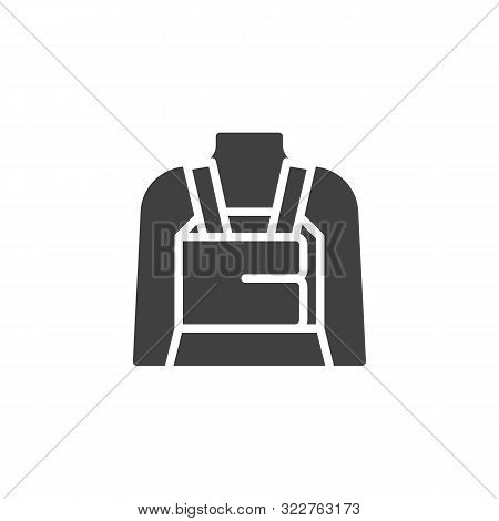 Orthopedic Lumbar Brace Vector Icon. Filled Flat Sign For Mobile Concept And Web Design. Posture Cor