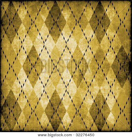 Grungy argyle pattern background