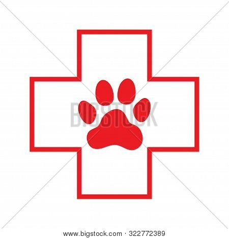 Pets First Aid. Veterinarian Hospital. Icon. Vector Illustration.